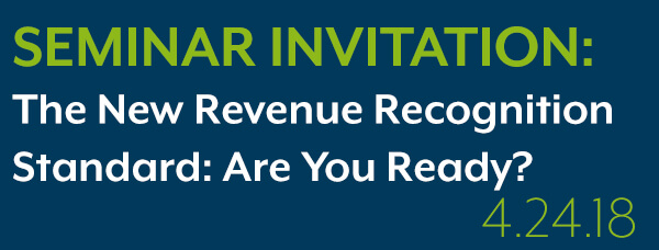 Registration Form For The New Revenue Recognition Standard Are You