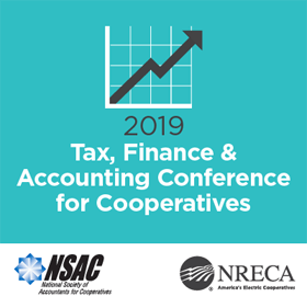 National Society of Accountants for Cooperatives (NSAC) 2019 Conference logo