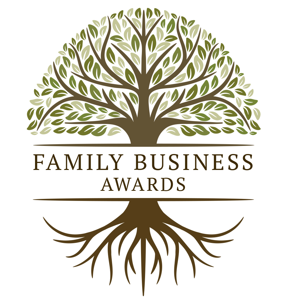 Illustration of a tree and roots with the words Family Business Awards in the middle of the image