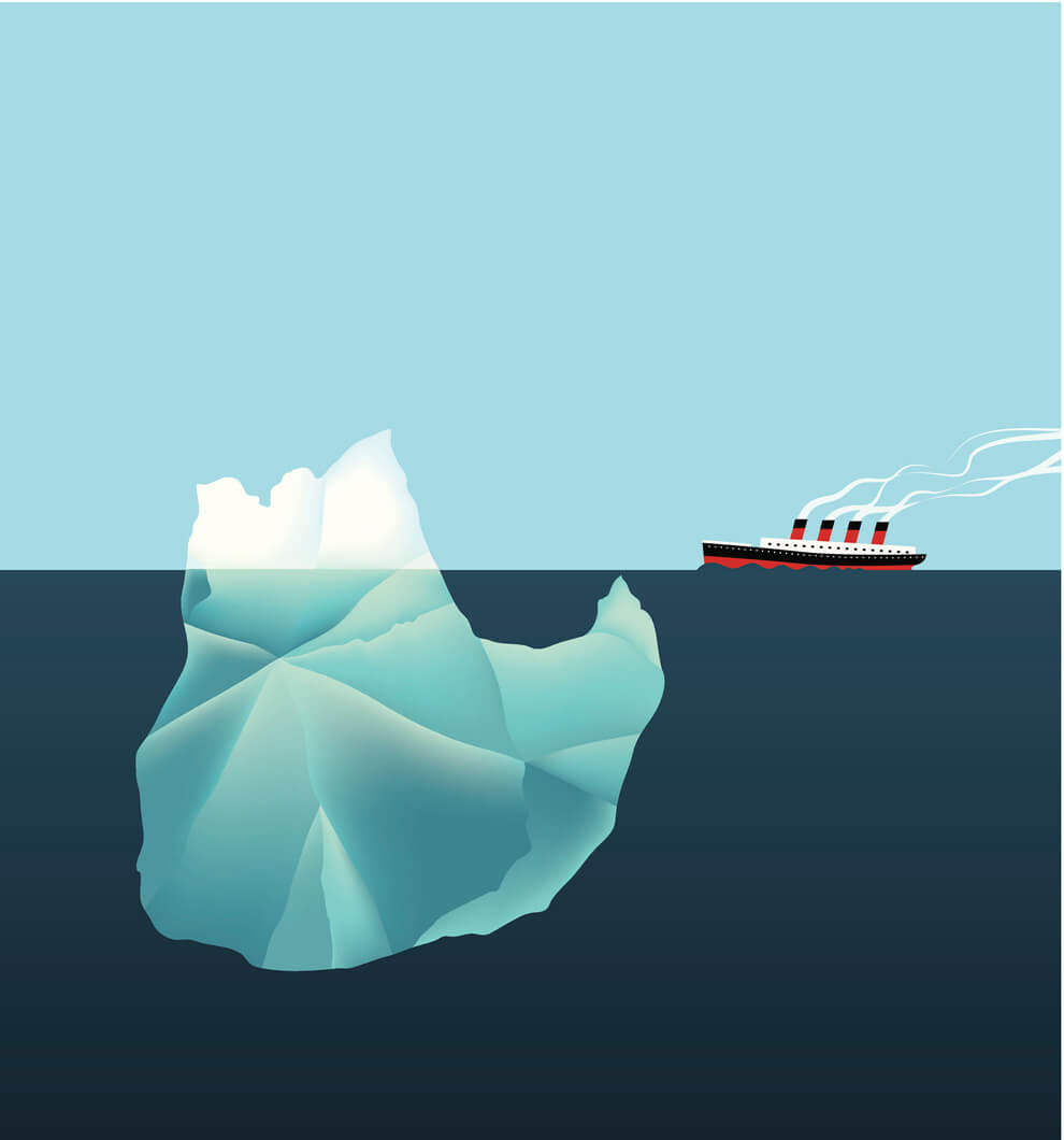 Steamboat heading to an iceberg - a warning about preparedness