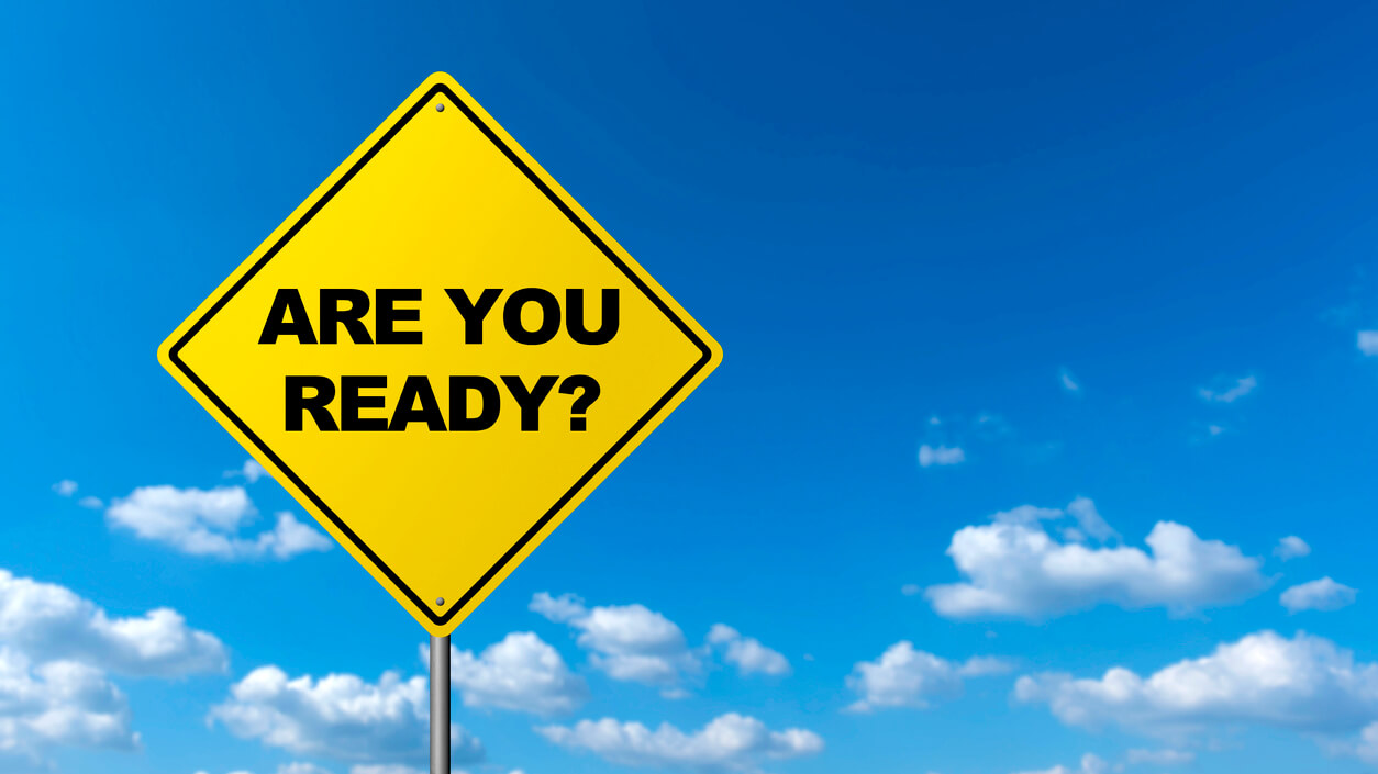 Road Warning Sign - ARE YOU READY?