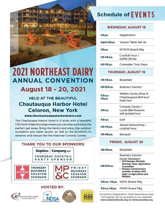 Agenda for 2021 Northeast Dairy Conference