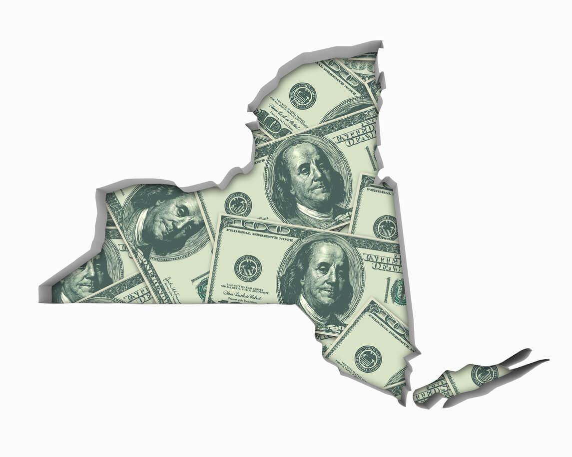 New York NY Money Map Cash Economy Dollars 3d Illustration